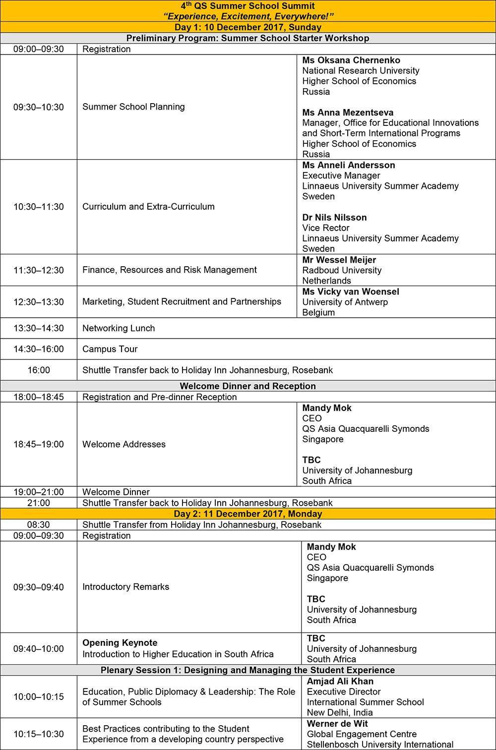 QSSSS-2017-Programme-Schedule